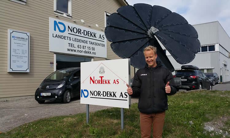 Nortekk Solar forhandler nå også Smartflower!